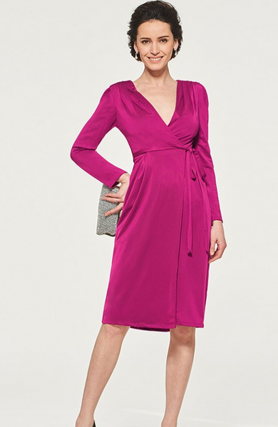 Mother of the Bride: Chiffon Sheath Knee Length Wrap Dress