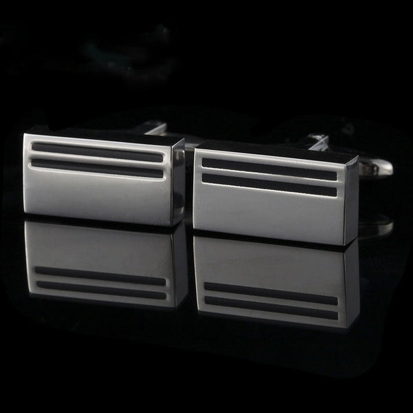 Custom Stainless Steel Square Cuff Links - RDevine Fashion (Wedding & Bridal)