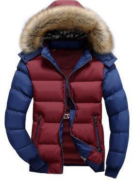 RD Color Blocked Goose Down Jacket - RDevine Fashion (Wedding & Bridal)