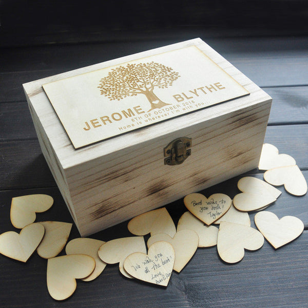 Custom Wooden Guestbook Box - RDevine Fashion (Wedding & Bridal)
