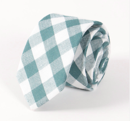 RDevine Neck Ties - Plaid Cotton Tie