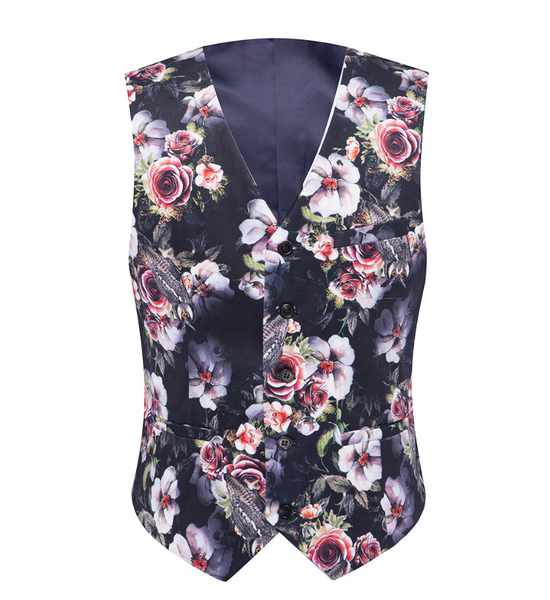 (MTM) Classic Fit Double-Button Floral Print Suit