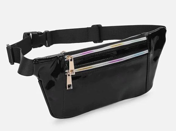 Double Rainbow Zipper Patent Bum Bag
