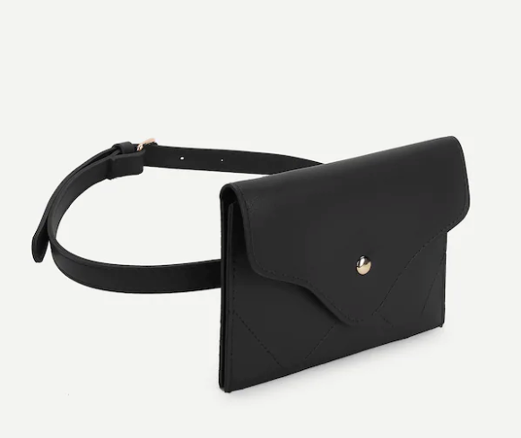 Faux Leather Envelope Bum Bag