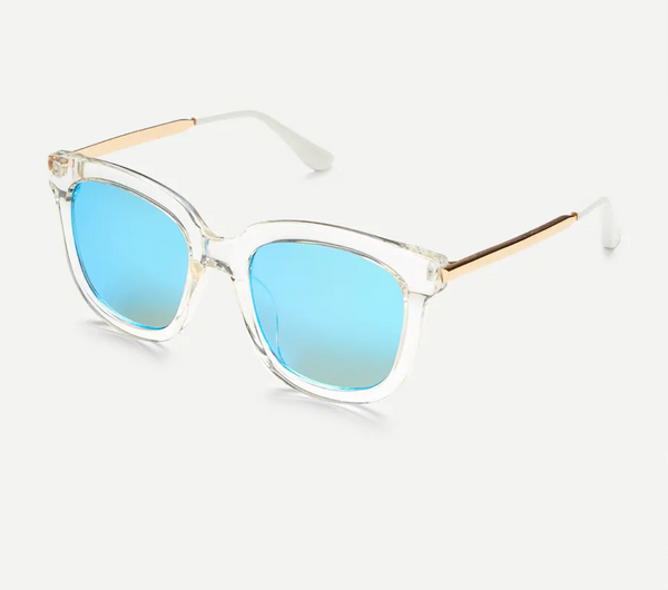 Mirror Frame Sunglasses with Clear Frames