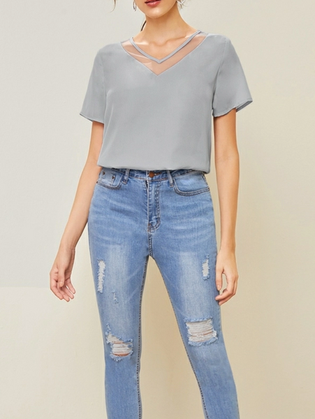 "RDevine Casual- The ""Layla"" Mesh Insert Top"