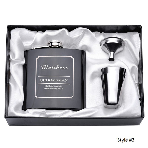 Personalized Stainless Steel Flask Set - RDevine Fashion (Wedding & Bridal)