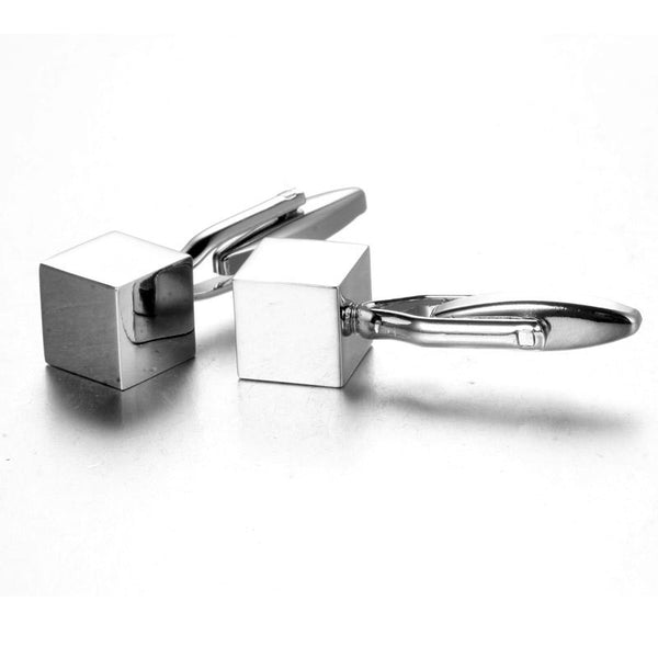 Monogrammed  Cube Cufflinks - RDevine Fashion (Wedding & Bridal)