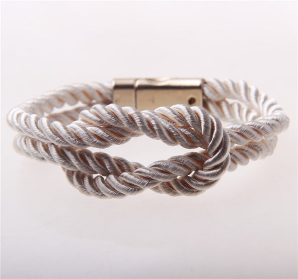 Bridesmaid Gift- Infinity Rope Knot Bracelet - RDevine Fashion (Wedding & Bridal)