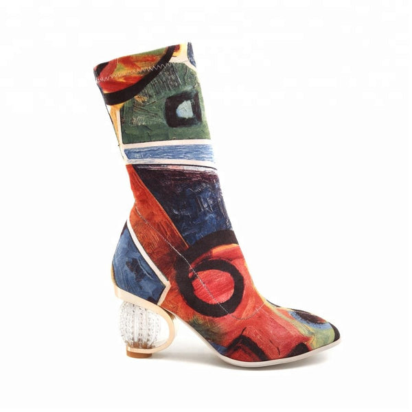 "The ""Africa"" Clear Heel Boot"
