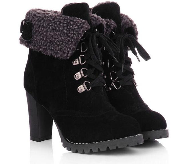 Chunky Heel Winter Boot