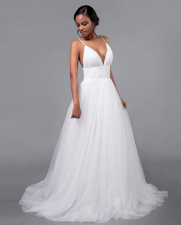 Beach Empire Waist Wedding Dress