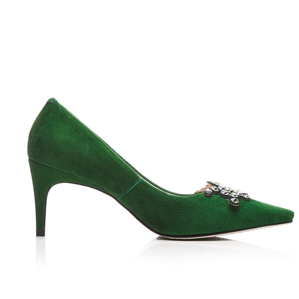 """Emeralds & Diamonds"" Mid-Stiletto Heel"