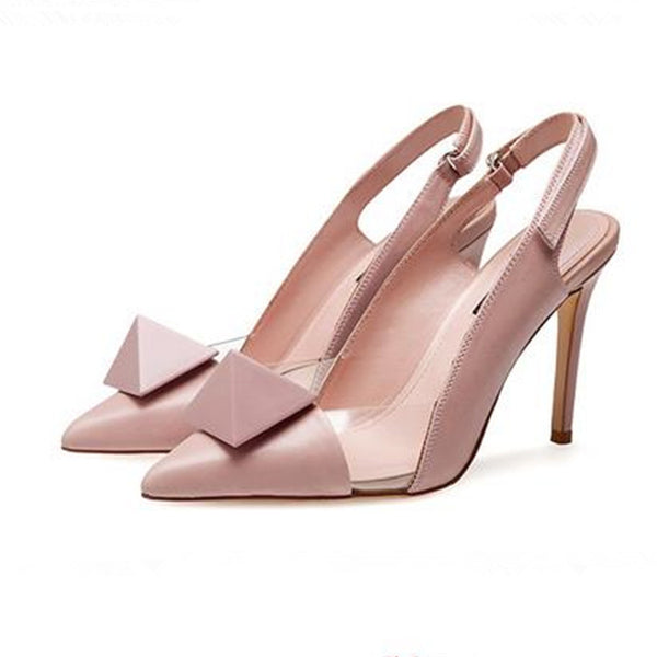"""Geometric Love"" Slingback Pump"