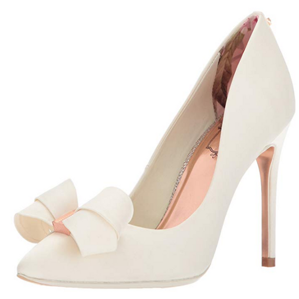 """Bells & Bows"" Soft Leather Pump"