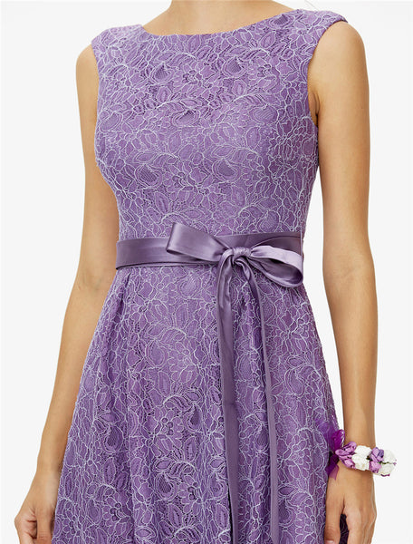 Bridesmaid Dress- Knee Length All Over lace Dress - RDevine Fashion (Wedding & Bridal)