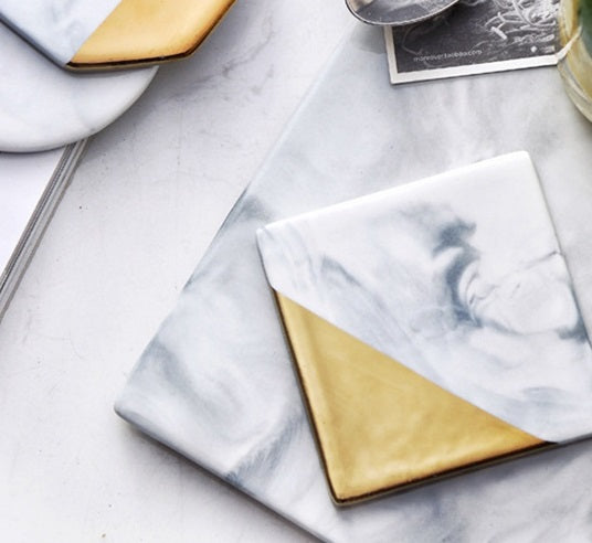 Gold & Marble Coasters - RDevine Fashion (Wedding & Bridal)
