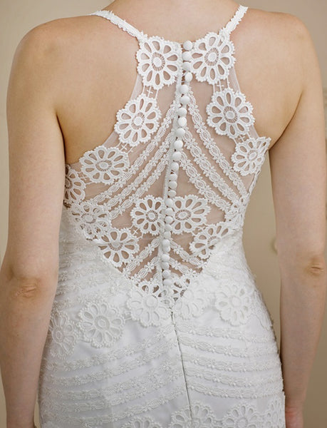 Lace Mermaid Wedding Gown with Intricate Racerback Detail - RDevine Fashion (Wedding & Bridal)