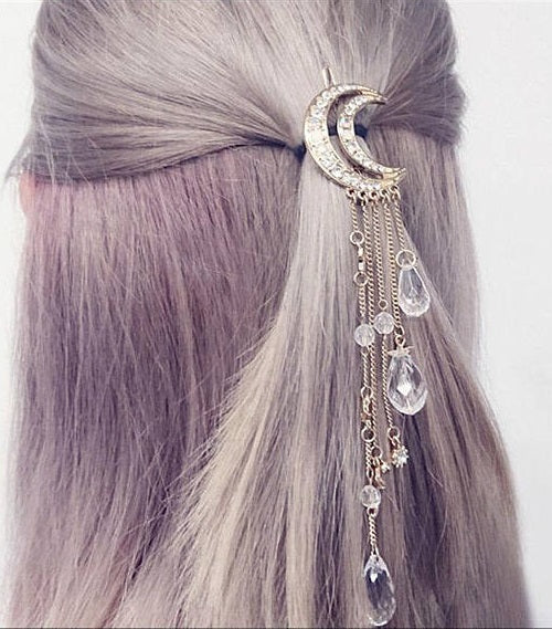 Minimalist Moon Drops Hair Pin - RDevine Fashion (Wedding & Bridal)