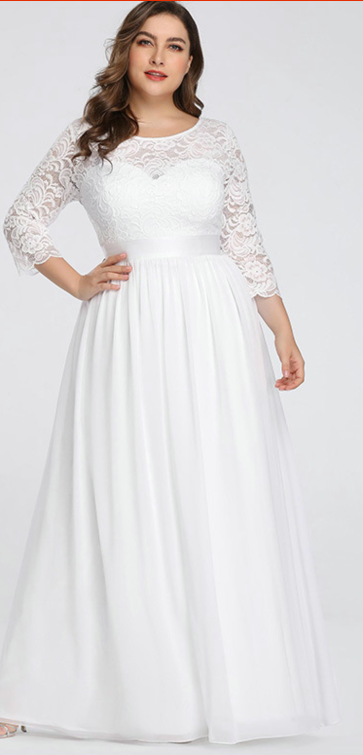 a4da0a3d48 Lace   Tulle Wedding Gown with Sheer Illusion Sleeves and Sweetheart  Neckline