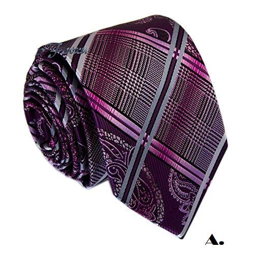 Paisley & Plaid Silk Necktie - RDevine Fashion (Wedding & Bridal)