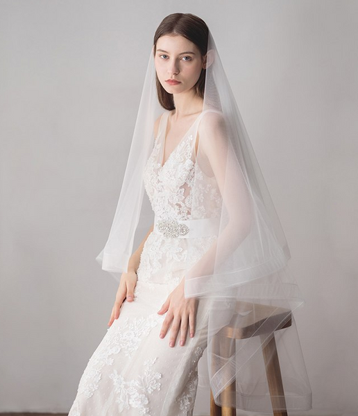 One-Layer Tulle Fingertip Veil
