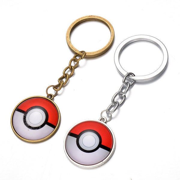 Pokeball Cabochon Keychain - ShopEmpires