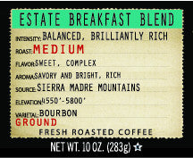 Estate Breakfast Blend 10oz Ground Coffee