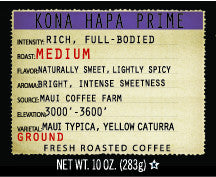 Kona HAPA Prime 10oz Ground Coffee
