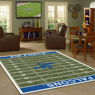 Air Force University Football Field Rug