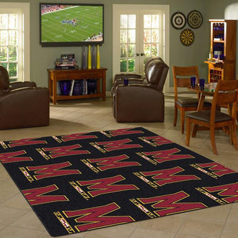 Maryland University Repeating Logo Rug
