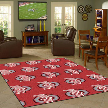 Ohio State University Repeating Logo Rug