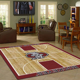 Ohio State University Basketball Court Rug