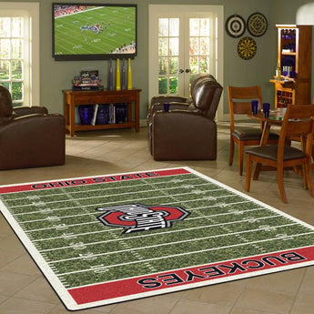 Ohio State University Football Field Rug