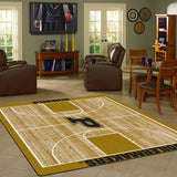 Purdue University Basketball Court Rug