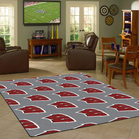 Wisconsin University Repeating Logo Rug