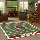 Wisconsin University Football Field Rug