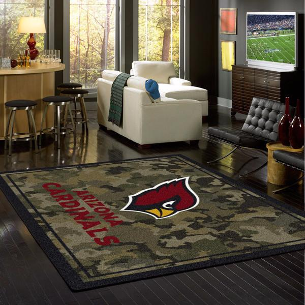 Arizona Cardinals NFL Team Camo Rug
