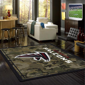 Atlanta Falcons NFL Team Camo Rug