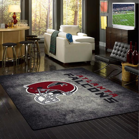 Atlanta Falcons NFL Team Distressed Rug