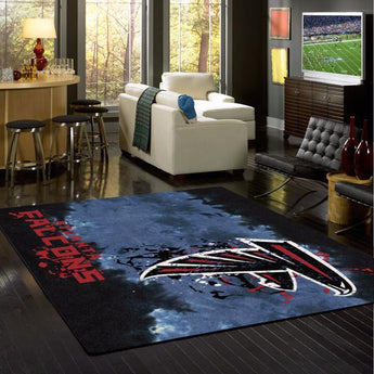 Atlanta Falcons NFL Team Fade Rug