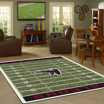 Atlanta Falcons Football Field Rug - NFL Team