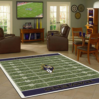 Baltimore Ravens Football Field Rug - NFL Team