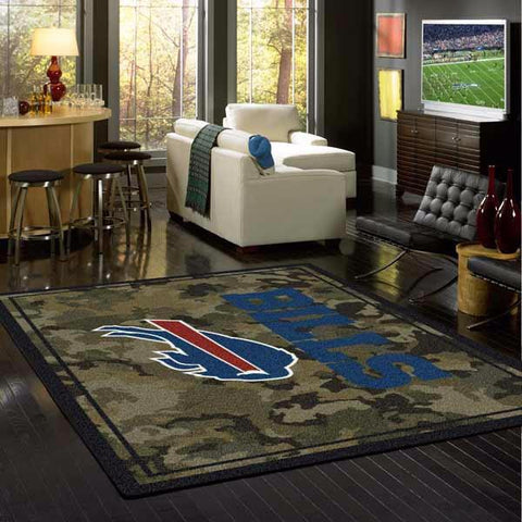 Buffalo Bills NFL Team Camo Rug