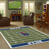 NFL Buffalo Bills Football Field Rug