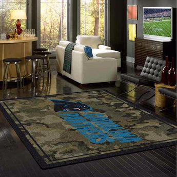 Carolina Panthers Camo Rug - NFL Team