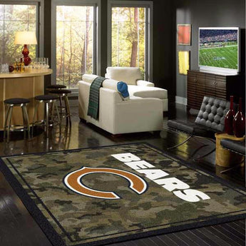 Chicago Bears NFL Team Camo Rug