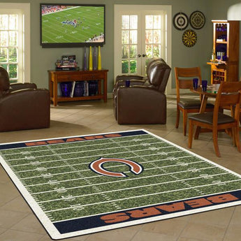 Chicago Bears NFL Football Field Rug