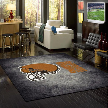 Cleveland Browns NFL Team Distressed Rug