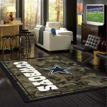 Dallas Cowboys NFL Team Camo Rug